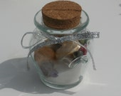 Silver Sand and Shells In A Bottle Card Holder / Favor by Silk N Lights