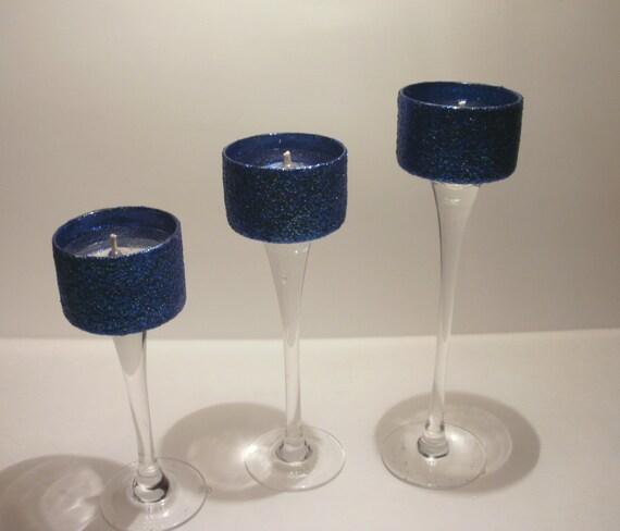 Deposit for Julie Wedding Centerpieces Navy Blue by SilkNLights