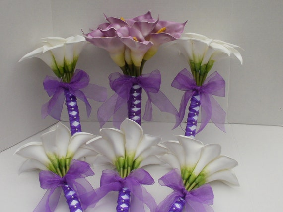 White Calla Lily Bouquets Custom Listing for jennifermcmillan2 by Silk N Lights