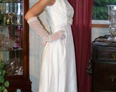 RESERVED for Mel-4-1-2012- Vintage  Mike Benet Silk Matka Beaded Wedding Bridal Gown