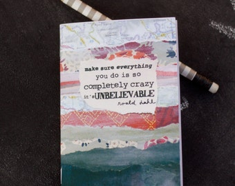 Mini Notebook Roald Dahl quote Completely Crazy Jotter