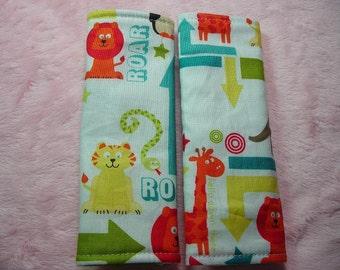 Alphabet Soup Infant/Toddler Reversible Car Seat Strap Covers