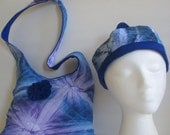 Beanie Hat and Matching Hobo Bag Tie-dyed Print