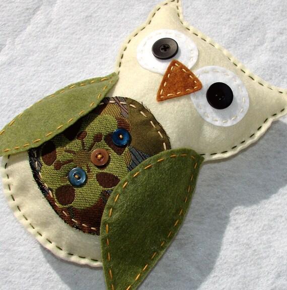 Felt Owl Plush Large Felt Owl Doll