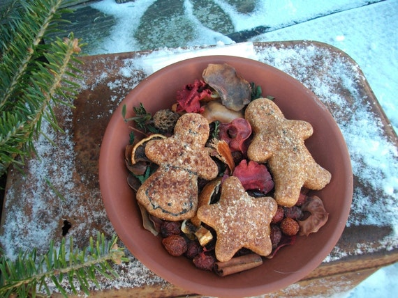 Gingerbread Man, Girl, and Star Dough Ornament Bowl Fillers