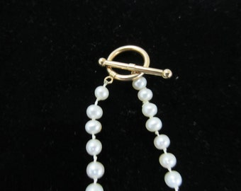 Wedding Pearls with 14K Gold Clasp