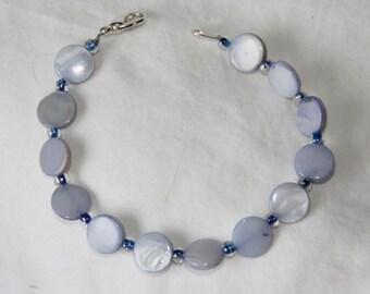 Periwinkle Blue Shell Bracelet