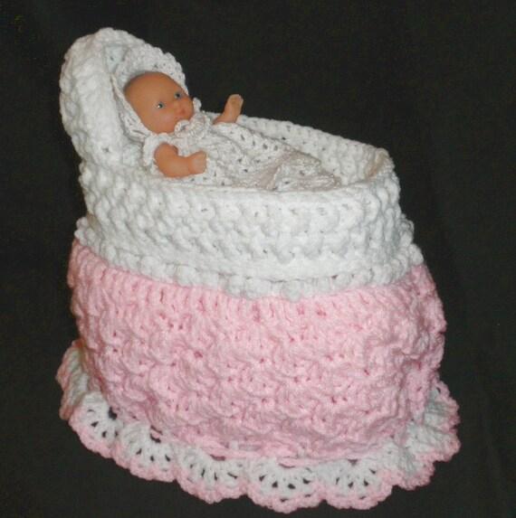 Crochet Pattern Doll Bassinet Purse : Crochet Doll Bassinet/Purse by CountryCrocheting on Etsy