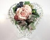 Shabby Chic Heart Box - Heart Basket