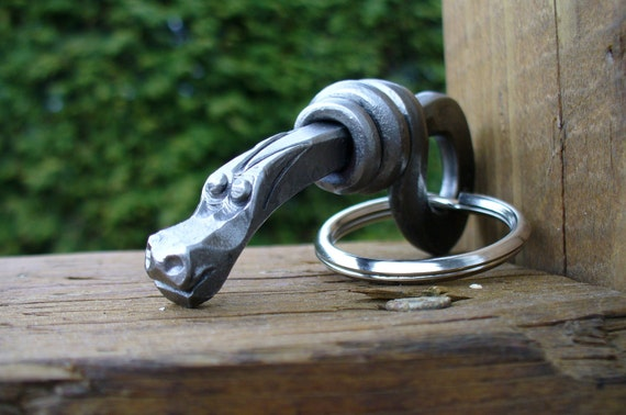 DRAGON KEYCHAIN  Hand Forged and signed by Naz