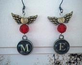 CLEARANCE - Steampunk Earrings-Flying Me