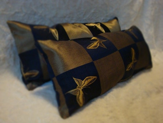 Gold Butterfly Decorative Pillows
