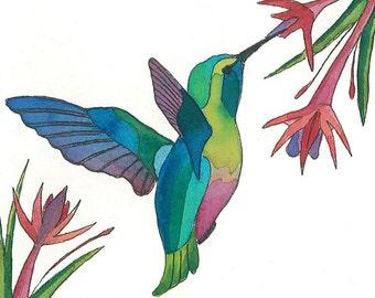 PRINT - Hummingbird