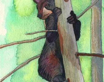 PRINT - Smoky Mountain Bear Cub