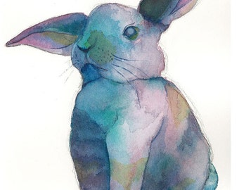 PRINT - Why So Blue, Rabbit