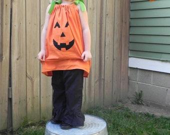 Jack-O-Lantern Pillowcase Dress Applique for Fall or Halloween