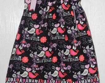 Valentine Special Love Bird Pillowcase Dress