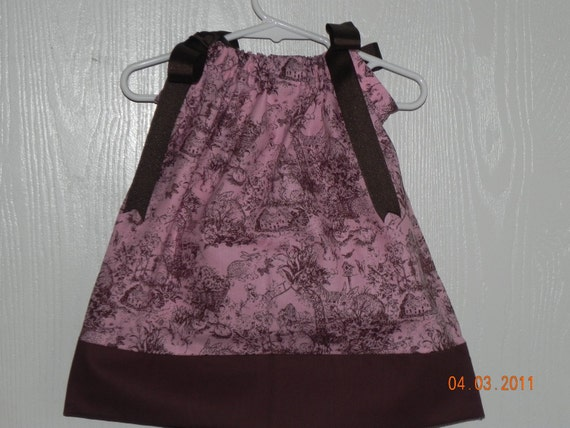SALE -Vintage Pink and Brown Easter Bunny Pillowcase Dress or Twirl Skirt