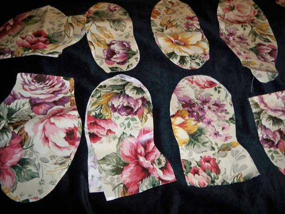 Decorator Teddy Bear, Fabric Kit, Precut, Polished Cotton Floral