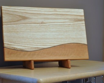 Rush: White Ash, Cherry, & Walnut Cutting Board