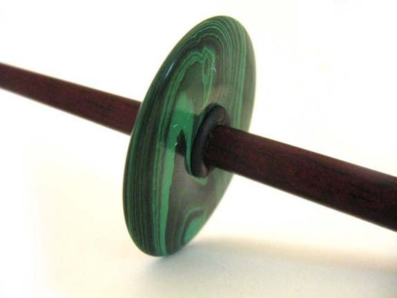 Top Whorl Spindle - Malachite