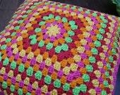 Modern & Clasic Granny Cushion Cover - Afghan Motif -