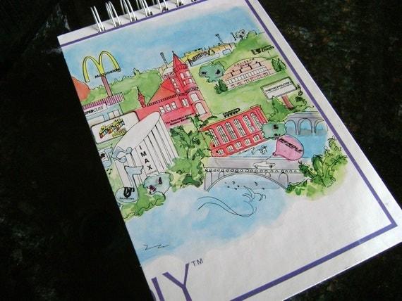 SALE! Spokane monopoly version mini scrapbook album journal