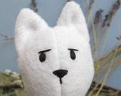 White Fox Plush Stuffed Animal Toy / Eco friendly