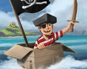 11x14 - A Pirate's Life For Me - Print