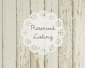 Reserved Listing for Gaby