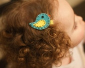 Adorable Bird Hair Clip - Meet Miss Sapphire (Treasury Item)