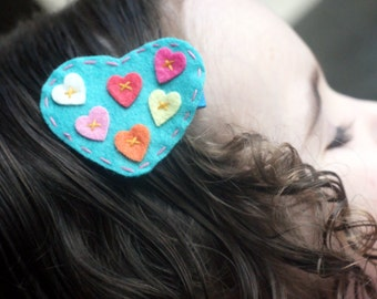 Cute Heart Hair Clip - Meet Miss Amore