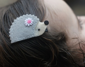 Cute Hedgehog Hair Clip - Meet Miss Henley - MORE COLORS