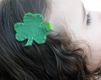 Boutique Shamrock Hair Clip - Meet Lucky