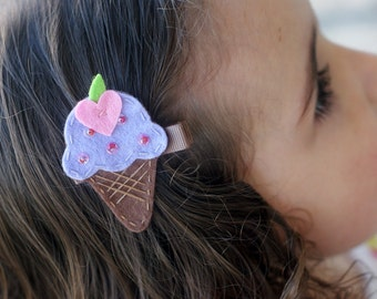 Ice Cream Cone Hair Clip - Meet Miss Yum - MORE COLORS