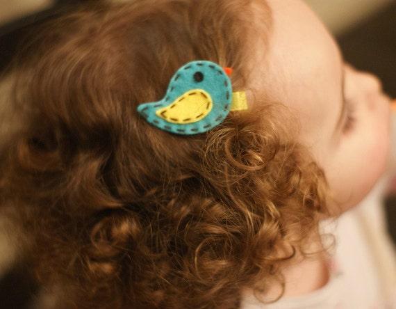 Adorable Bird Hair Clip - Meet Miss Sapphire (Treasury Item)