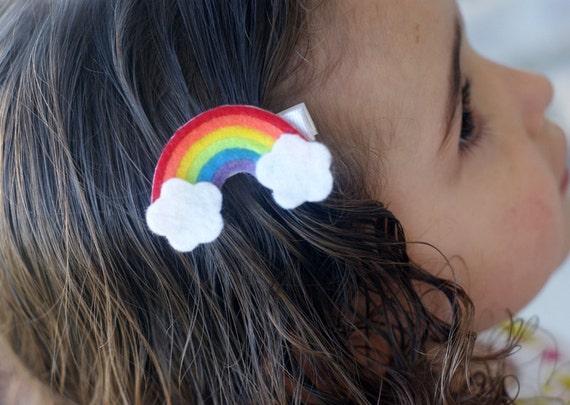 Rainbow Hair Clip- Meet Miss Raine