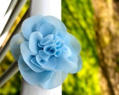 Large crepe flower: accessory, hair clip, brooch pin, gift topper (over 40 colors available)