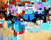 Original Contemporary Palette Knife Fine Art Painting Abstract Textured On Stretched  Canvas 20x16