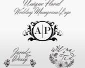 Floral Wedding Monogram/Logo - Custom