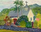 Church Note Card, Blank,  Wedding, Sympathy, All Occasion, Fine Art, Maui Hawaii