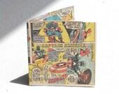 Captain America Skeeezo Recycled comic book wallet bi-fold billfold from vintage marvel superhero comics