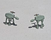 Sale: Star Wars Cuff links AT-AT PLASTIC cufflinks ecofriendly micromachines imperial walker father's day boyfriend husband anniversary gift