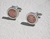 The Flash Cuff Links Cufflinks upcycled recycled vintage authentic dc comics comic book superhero accessories for geeks