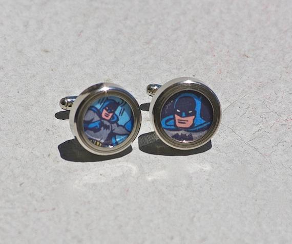 Batman Cuff links Dark Knight Cufflinks recycled superhero accessories for geeks comic book comics dc superheroes JLA