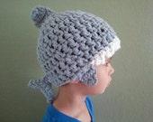 Custom Shark Crochet Beanie Hat Made to Order Many Sizes