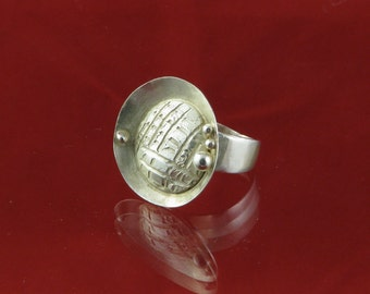 Sterling Silver Ring, Handmade