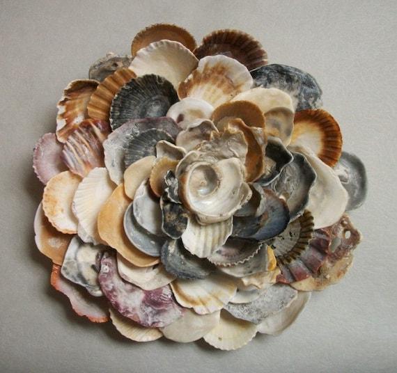 Seashell Flower Wall Sculpture Beach Wall Art