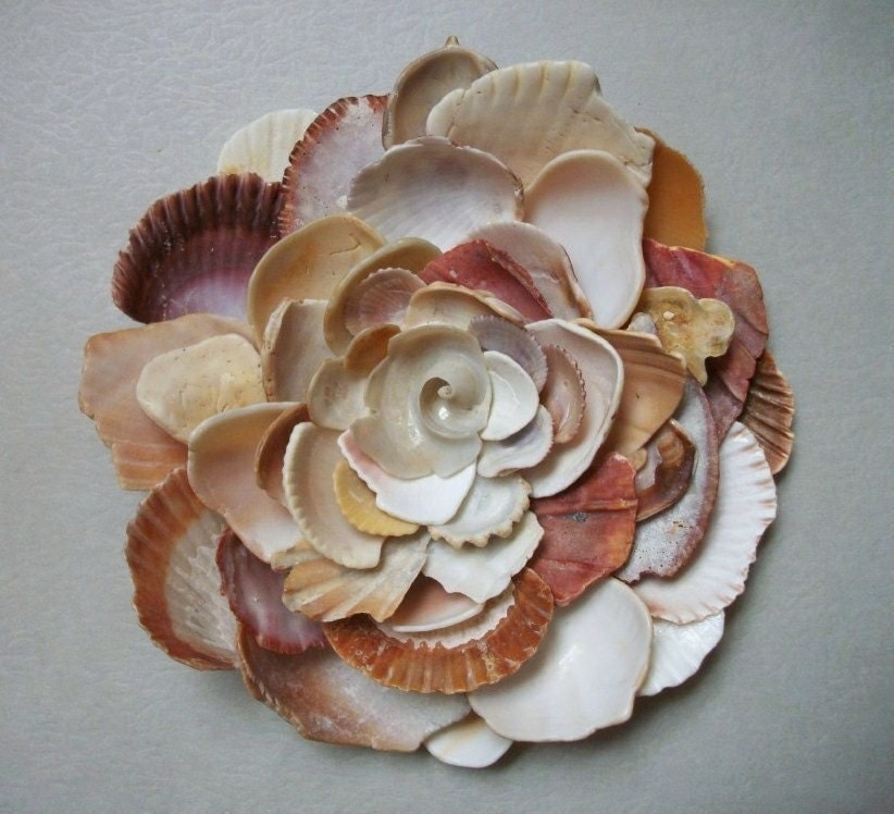 Wall Art Flower Sculpture Seashell Art