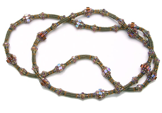 PDF File Tutorial for Undulating Ndebele Beadwoven Necklace